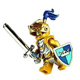 レゴお城シリーズの金色の騎士のミニフィグ