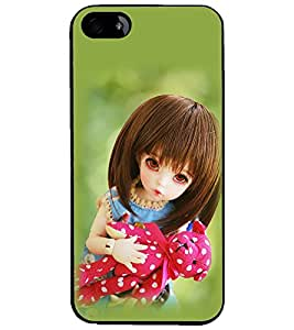 PrintDhaba Beautiful Doll D-1073 Back Case Cover for APPLE IPHONE 4 (Multi-Coloured)