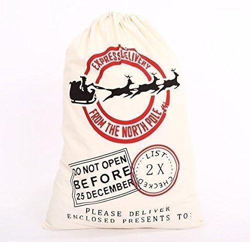 Sacchi di Natale riendeer nuovo Extra Large personalizzata Babbo Natale Sacchetti per regali per bambini, 50x 75cm