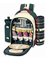Sutherland Baskets SPB3065A1R Stonington Farms Picnic Backpack for 4 by Sutherland Baskets