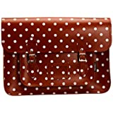 Zatchels Womens Polka Dot Satchel 16 Cross-Body Bag