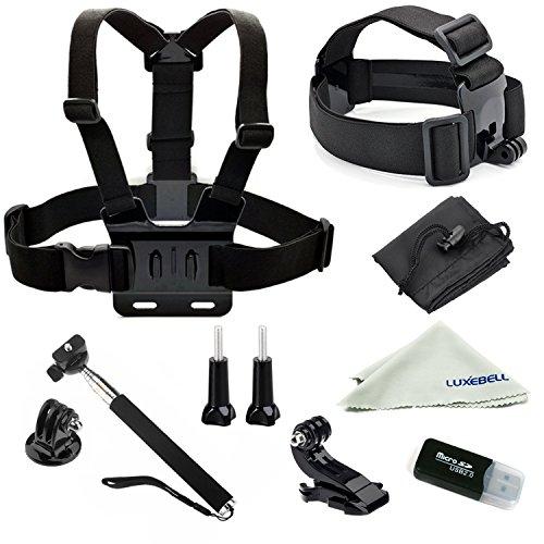 Luxebell Accessories Kit for AKASO EK5000 EK7000 4K WIFI Action Camera Gopro Hero 7 6 /Session 5/Hero 4/3+/3/2/1 (12-in-1)