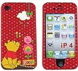 【iPhone4S 対応】日本未発売  iPhone4 USAディズニー オフィシャル ハード くまのプーさん レッド