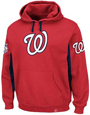 "Washington Nationals Majestic MLB ""Major Play"" Hooded Sweatshirt - Red"
