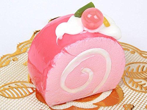 ロールケーキ型 ヘアピン 子ども ピンク スイートティーブレイク