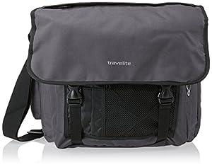 Travelite Umhängetasche Basics Messenger Tasche Grau (Anthrazit) 96248-04