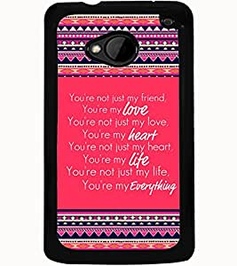 ColourCraft Quote Design Back Case Cover for HTC ONE M7