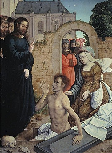 Oil Painting 'Flandes Juan De The Ressurrection Of Lazarus 1510 18 ' Printing On High Quality Polyster Canvas , 24 X 33 Inch / 61 X 84 Cm ,the Best Living Room Decor And Home Decoration And Gifts Is This High Resolution Art Decorative Canvas Prints Quality Industrial Workbench Accessories
