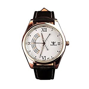 YAZOLE simple atmospheric men's top luxury brand business quartz watches white / black