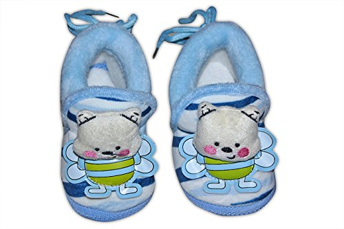 Baby Station Booties Winter Warm Girl Boys Shoes First Walker Training Shoes Bunny Face(0-6 M) (Blue)  available at amazon for Rs.275