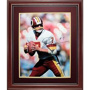 Joe Theismann Autographed Washington Redskins Deluxe Framed 16x20 Photo by PalmBeachAutographs.com