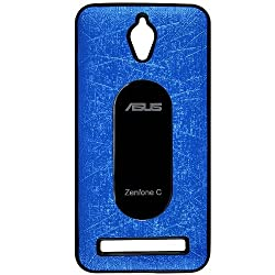 Casotec Metal Back TPU Back Case Cover for Asus Zenfone C ZC451CG - Sky Blue