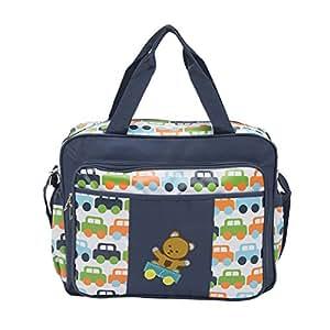 buy ez life baby diaper multi pocket carry bag cars navy blue large onli. Black Bedroom Furniture Sets. Home Design Ideas
