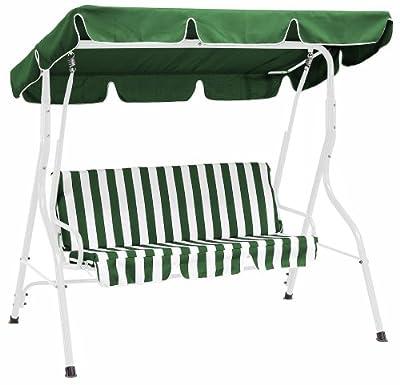 Hollywoodschaukel 3-sitzer Florida, grün/weiss von gartenmoebel-einkauf bei Gartenmöbel von Du und Dein Garten