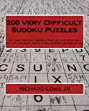 img - for 200 Very Difficult Sudoku Puzzles: 200 Very Difficult Sudoku Puzzles to Challenge, Occupy the Mind, Improve Brainpower and Entertain (Volume 5) book / textbook / text book