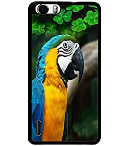 ColourCraft Cute Parrot Design Back Case Cover for HUAWEI HONOR 6