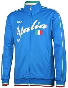 Men's Fila Italia Track Fashion Jacket BLUE 5XL REG