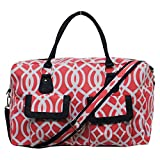 Geometric Vine Pattern Print Gym Dance Cheer Duffle Travel Overnight Bag