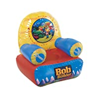 A chair for children with Bob The Builder on the backrest