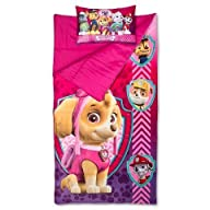 Paw Patrol Sleepover Set Slumber Bag and Pillow Girls