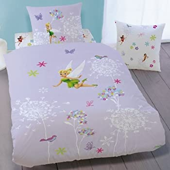 pas cher disney fairies housse de couette f e clochette parure de lit enfant 100 coton. Black Bedroom Furniture Sets. Home Design Ideas