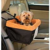 Kurgo Skybox Dog Booster Seat, Black with Orange Liner