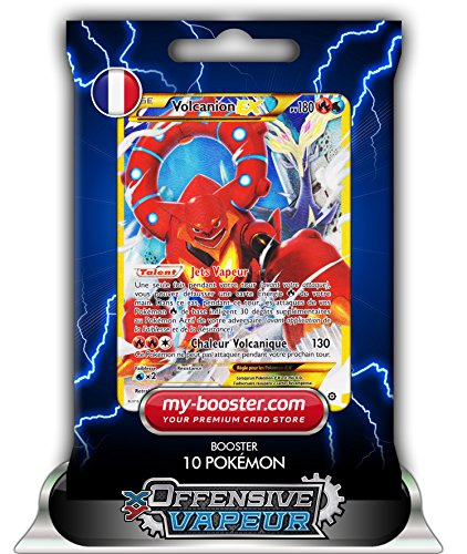 VOLCANION EX FULL ART secrete 115/114 180PV XY11 OFFENSIVE VAPEUR - Booster de 10 cartes Pokemon francaises my-booster
