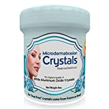 NeedCrystals Microdermabrasion Crystals Exfoliating Facial Scrub Skin Care Reduces Appearance of Acne Scars Blackheads Wrinkles Stretch Marks White Aluminum Oxide Crystals Microdermabrasion Scrub, 8 oz
