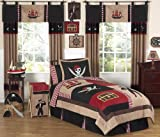 Pirate Treasure Cove Kids Bedding 3pc Full / Queen set by Jojo Designs Sweet