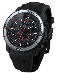 Vostok-Europe Men's OS2B/5464136 Ekranoplan Quartz Black Dial Watch
