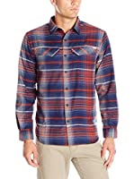 Columbia Camisa Hombre Silver Ridge Flannel Shirt (Rojo)