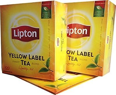 200 Teebeutel Lipton Yellow Label Tea Quality No. 1 (2 x 100) von Unilever auf Gewürze Shop
