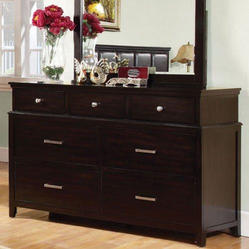 Linden Transitional Style Espresso Finish Bedroom Dresser front-1067156
