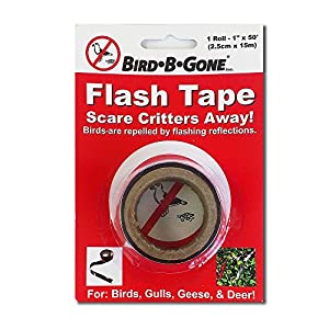 "Bird B Gone MMFT-050 Flash Tape Bird Deterrent 1"" x 50 ', Pack of 1"