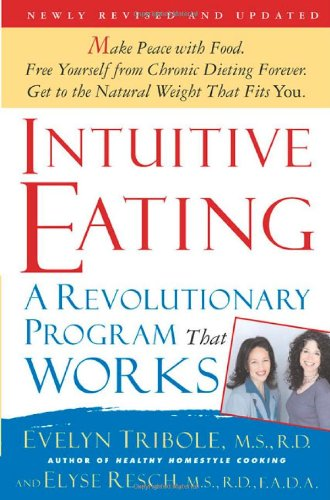 Cover of Tribole and Resch's book 'Intuitive Eating'