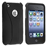 eForCity Snap-On Case for Apple iPhone 3G/3GS - Retail Packaging - Black