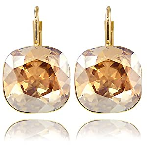 Ohrringe mit SWAROVSKI ELEMENTS - Farbe Gold Lt. Colorado Topaz