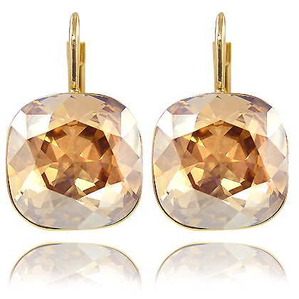 ohrringe mit swarovski elements farbe gold lt colorado topaz your 1 source for jewelry and. Black Bedroom Furniture Sets. Home Design Ideas