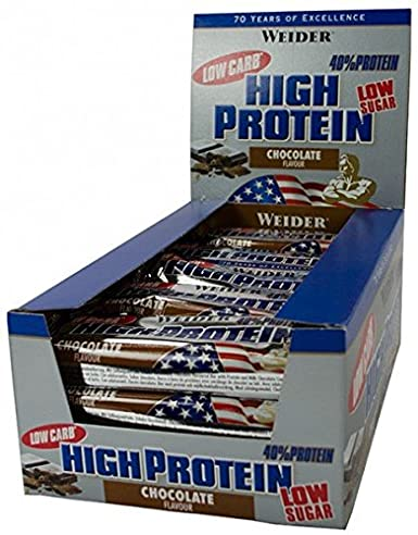 Weider 40% HIGH Protein Bar ( 23 x 100g) BIG BOX - Peanut-Caramel