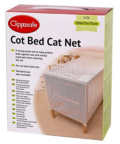 COT BED CAT NET, includes complimentary pack of 12 vie squeeze & stick insect patches
