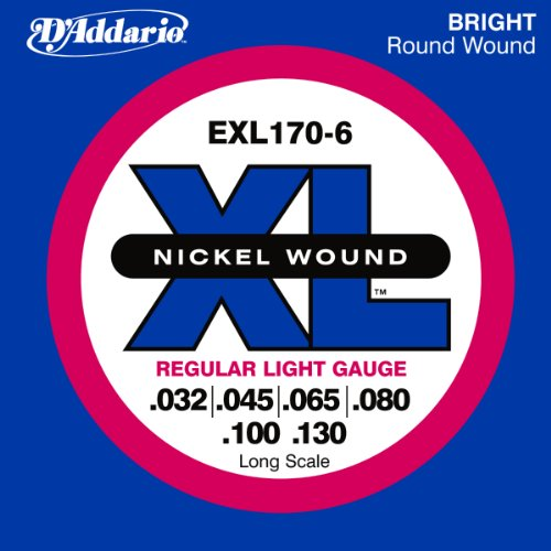 D'Addario EXL170-6 6-String Nickel Wound Bass