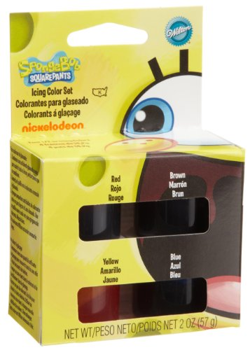 Wilton SpongeBob SquarePants Icing Color Set