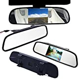 E-best®4.3 Inch TFT Car Auto LCD Screen Rear Monitor View Rearview DVD Av Mirror; High Resolution 4.3″ Color TFT LCD Car Rearview Mirror Monitor 4.3 Inch 16:9 Screen Dc 12v Car Monitor for DVD Camera VCR