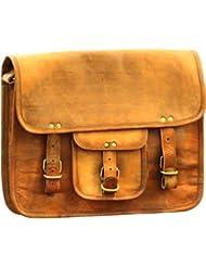 Pranjals House Vintage Handmade Brown Leather Messenger Bag