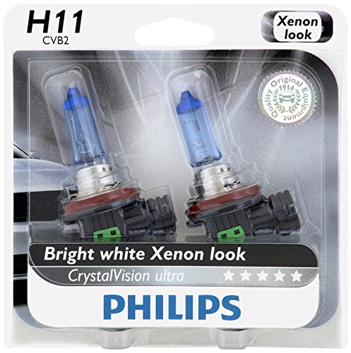 Philips H11 CrystalVision Ultra Upgrade Headlight Bulb, 2 Pack (Mustang Headlights 05 compare prices)