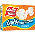 Jolly Time Crispy 'n White Light Natural Microwave Popcorn, 3-Count Boxes, 9 oz, (Pack of 12) by Jolly Time