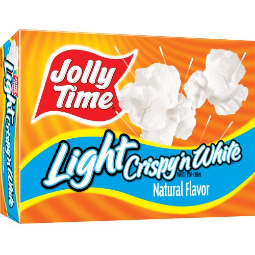 Jolly Time Crispy 'n White Light Natural Microwave Popcorn, 3-Count Boxes, 9 oz, (Pack of 12) (Popcorn Jolly Time compare prices)