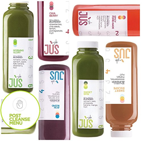 Jus By Julie 5 Day 'Juice Till Dinner' Cleanse + Meal Menu