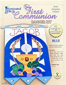 First Communion Banner Kit - Boy Colors