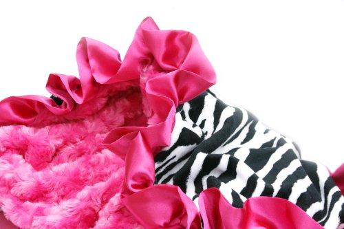Pink Zebra Baby Blanket front-177656
